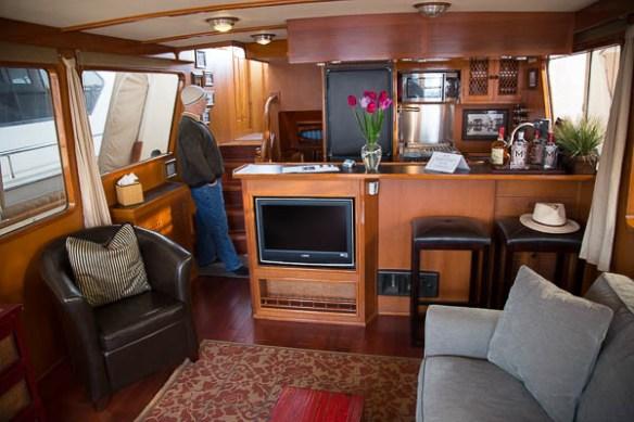 mv Archimedes Seattle Boat Show Majestic inside
