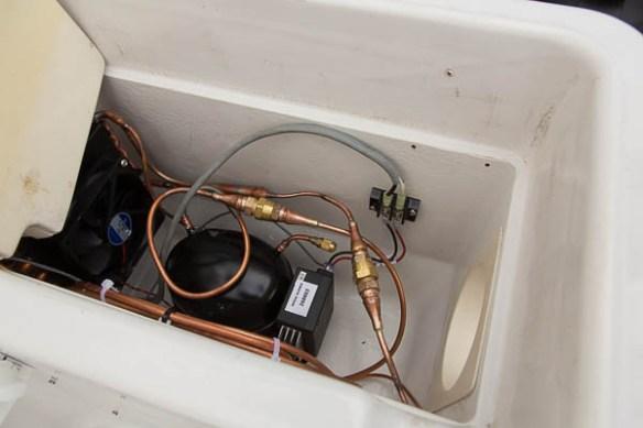 mv Archimedes deck freezer wired up