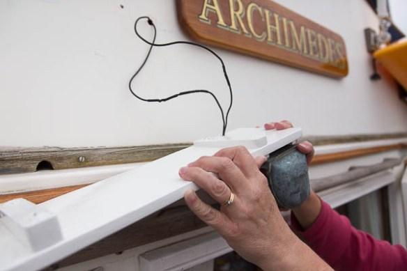 mv Archimedes nav light board install