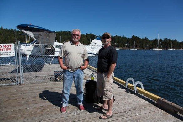 mv Archimedes Rusty and Bruce at the float plane dock
