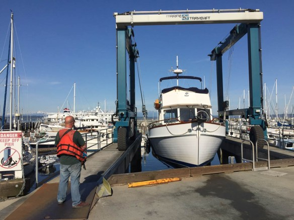 mv Archimedes Seaview West Boatyard haulout 2