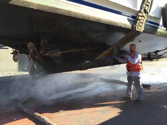 mv Archimedes Seaview West Boatyard haulout 3