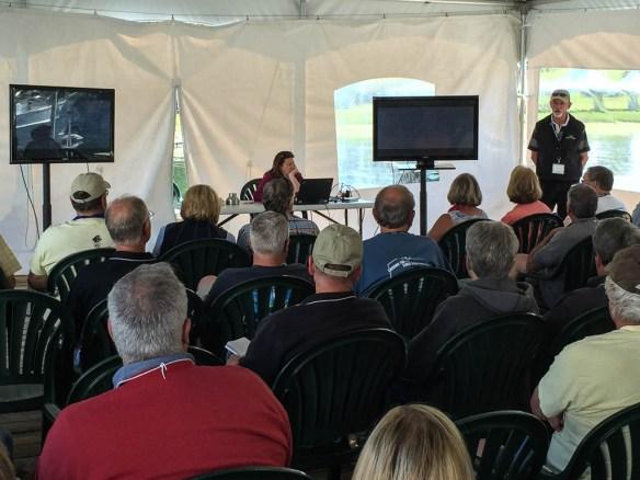 mv Archimedes Bill Davis talk at the Grand Banks rendezvous