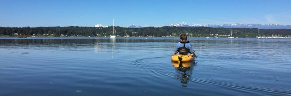 mv Archimedes kayaking Liberty Bay 1