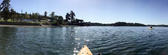 mv Archimedes kayaking Liberty Bay 2