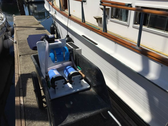 mv Archimedes new water filters are at the boat