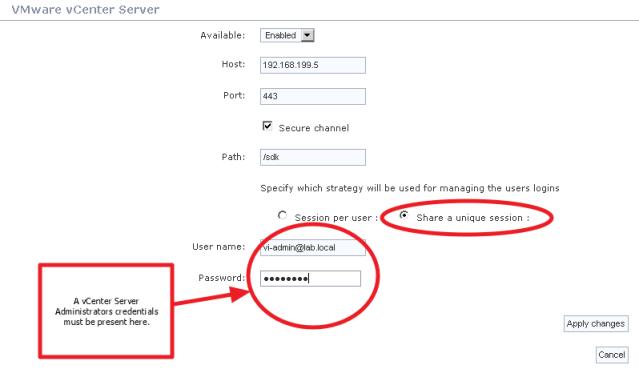 Adding a vCenter Server