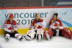 Marie-Philip Poulin, Kim St-Pierre and  Charline Labonte