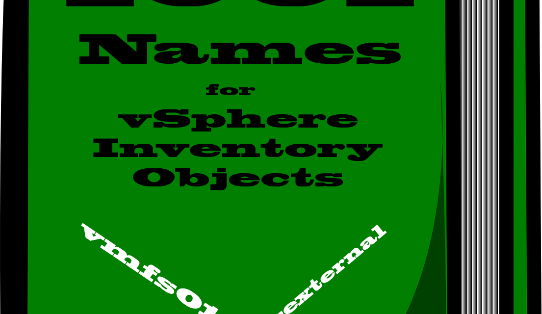 What's in a name? – The importance of naming conventions