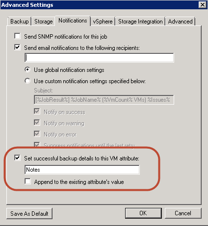 Quickfix - Mass editing Veeam VM Attribute settings with