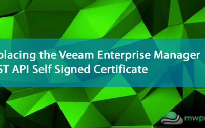 Replacing the Veeam Enterprise Manager REST API Self Signed Certificate