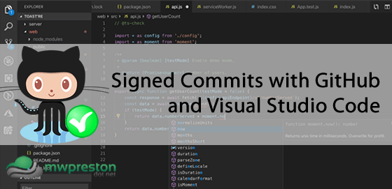 Signed GitHub commits and VSCode