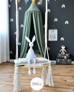 Kinderschaukel Indoor aus Holz & Stoff