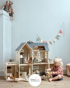 Maileg Puppenhaus mit Hasen, Bären & Mäusen