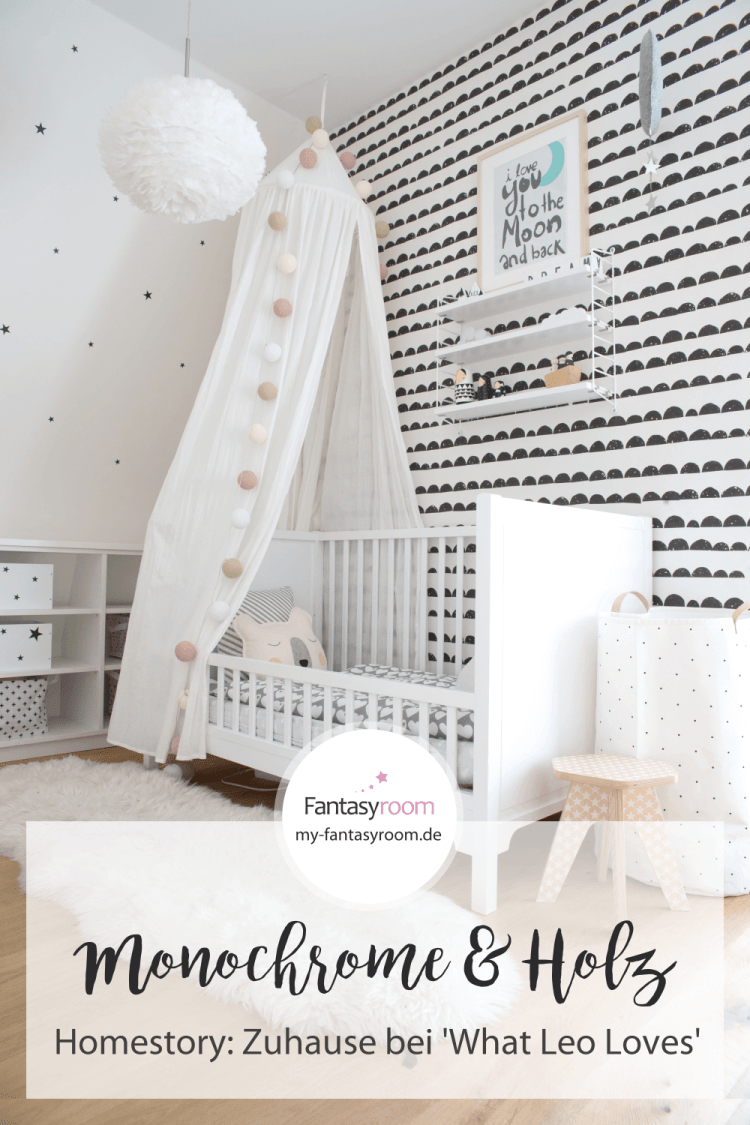 Pinterest // Kinderzimmer Homestory: Zuhause bei 'What Leo Loves' - ein modernes Kinderzimmer im Monochrome Stil