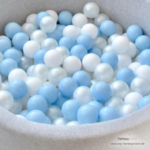 Fantasyroom Bällebad in Blau und Perlmutt