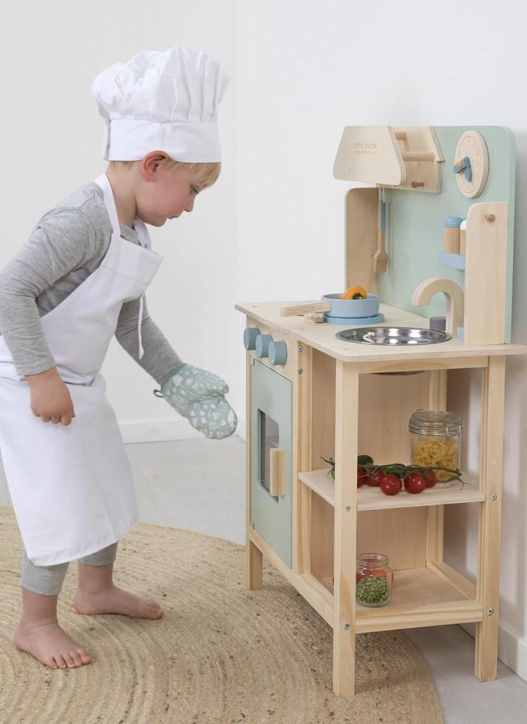 Kinderküche von Little Dutch in Mint und Naturholz