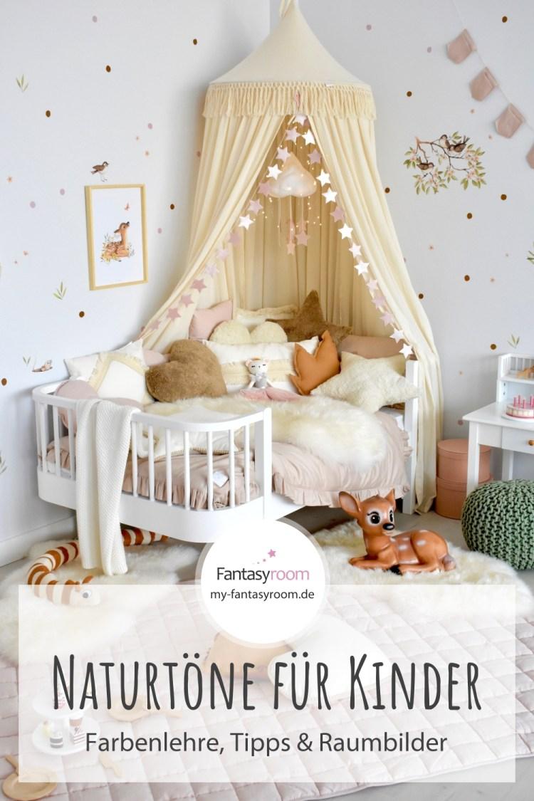 Kinderzimmer in Naturtönen einrichten & gestalten: Tipps & Raumbilder