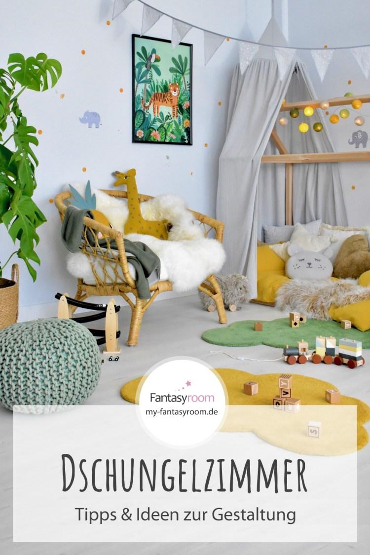 Für Pinterest // Dschungelzimmer für Kinder einrichten - Tipps & Ideen