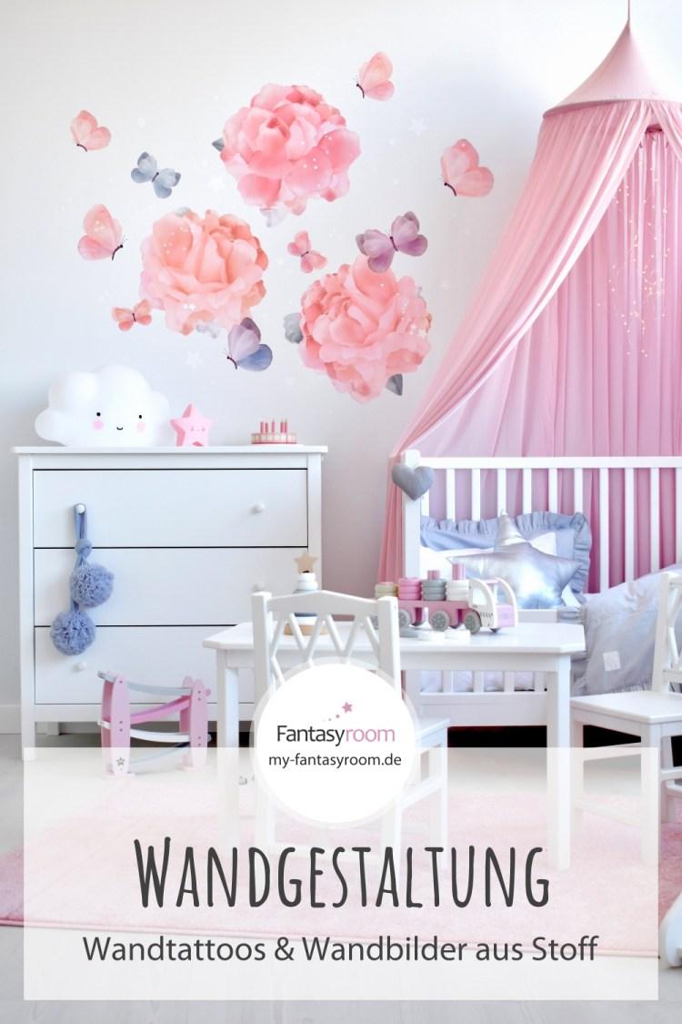 Für Pinterest // Die schönsten Wandtattoos und Wandbilder aus Stoff