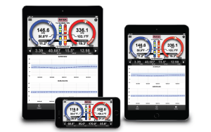 iManifold Readings Shown on 3 Portable Handheld Devices