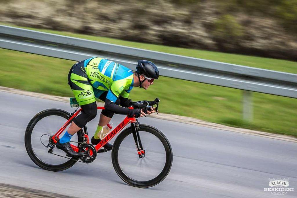 Beskidzki Klasyk 2017 - Adrian Flur na trasie