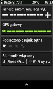 Widok na nowe menu połączeń.