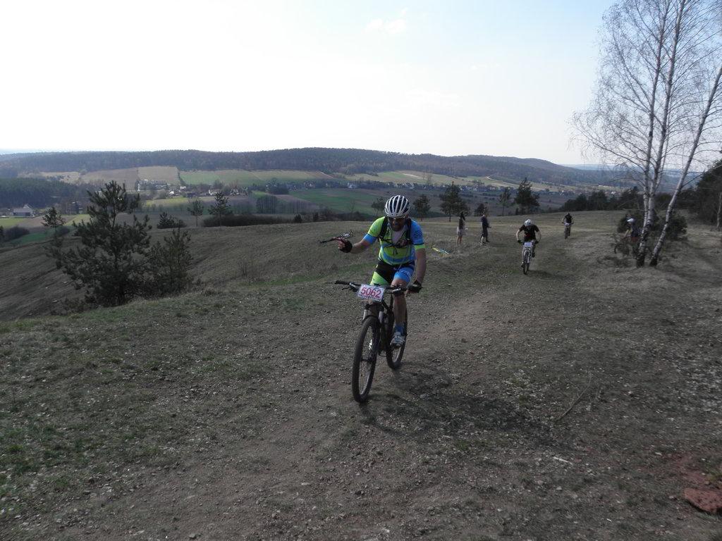 Maciej na trasie MTBCrossMaraton Chęciny