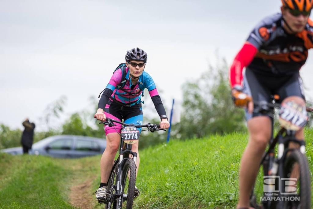 Gosia Kloka na trasie Poland Bike Marathon w Konstancinie-Jeziornie