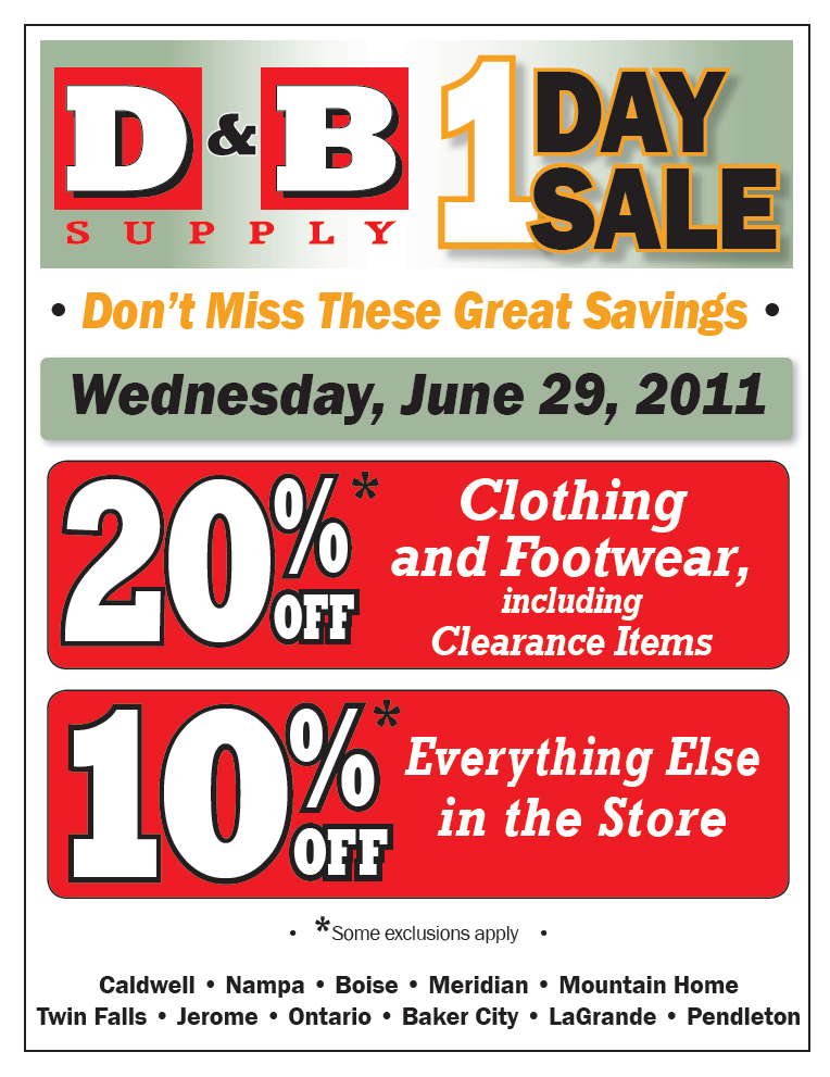 June 29th One Day Sale
