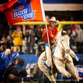 BSU Bronco Girl Chelsie and her Horse, Willie