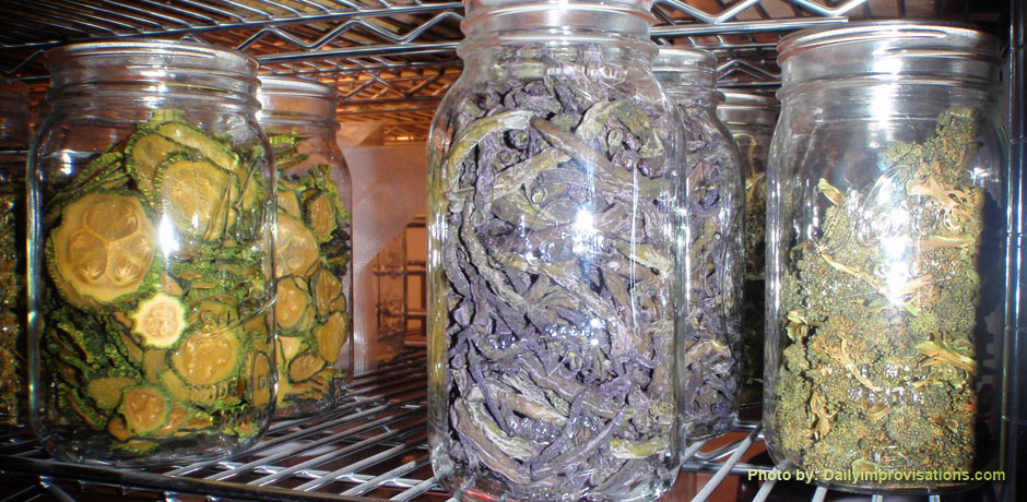 Dried Purple Beans and Broccoli