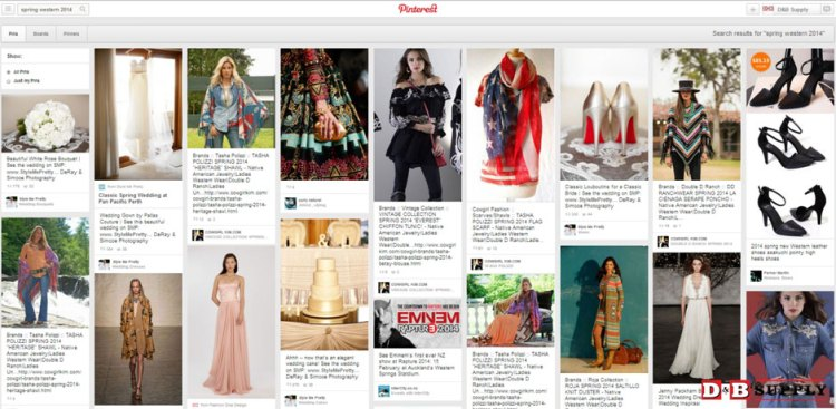 Pinterest Page of spring 2014 fashion