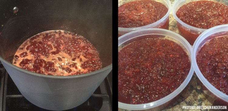 08142017_Green-Tomatoes-turn-into-raspberry-jam-boiling-and-distributing-out