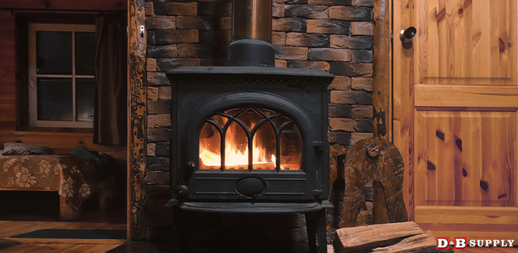 Picking A Stove - Fire Stove in a Log Cabin