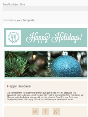 eateria holiday email example