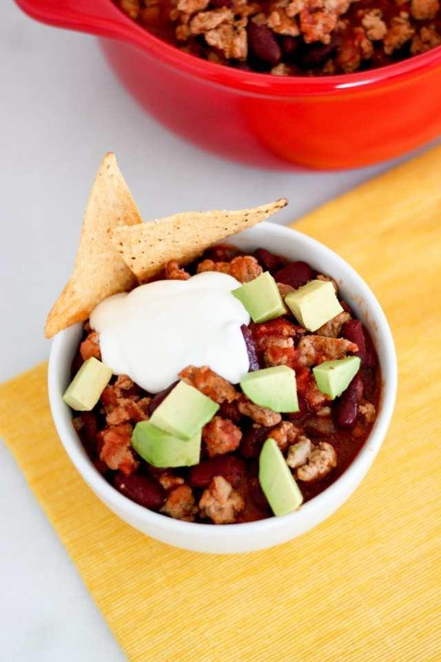Slow Cooker Turkey & Bean Chili | MyFitnessPal