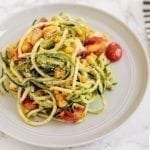 Low-Carb Pesto Chicken & Veggie Pasta
