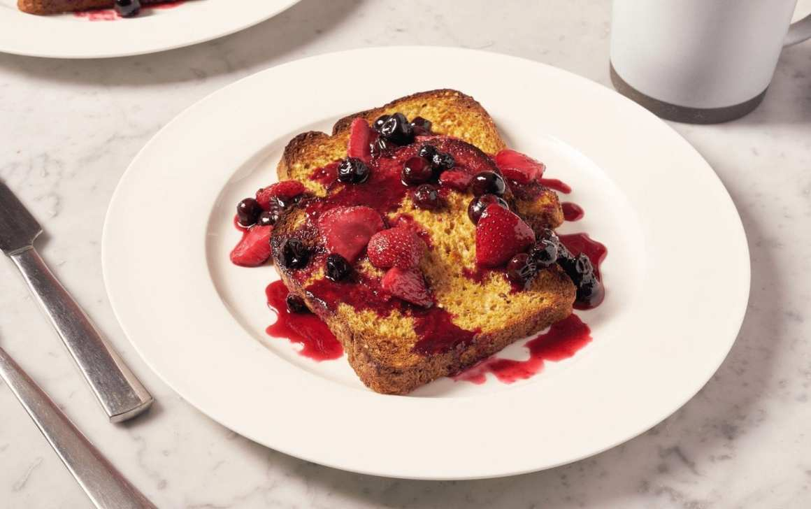 Sheet Pan French Toast With Mixed Berry Sauce
