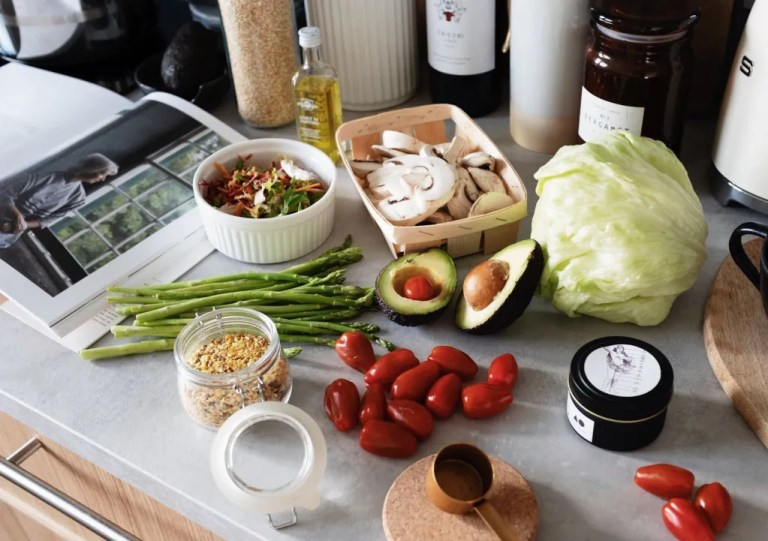 healthy ingredients for dish preparation