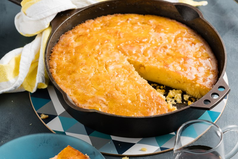 sweetcorn maple cake