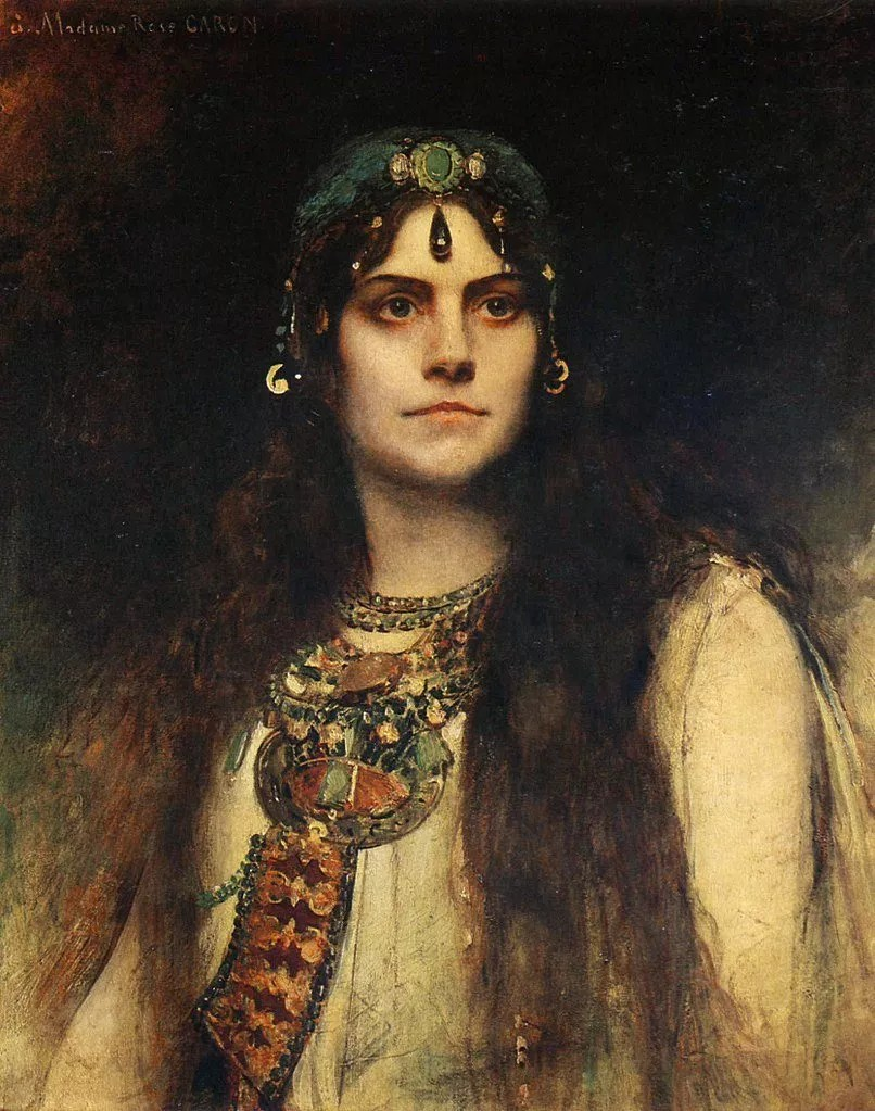 Rose Caron, a famous French Opera singer, in the role of Salammbo, 1896