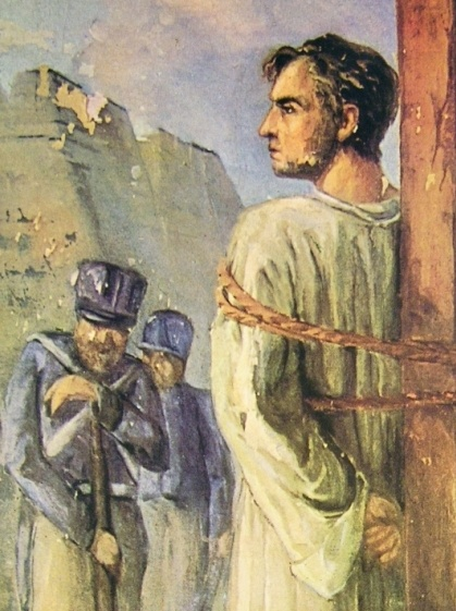 The Execution of Frei Caneca, painted by Murillo La Greca in 1924 [Credit: Collection of the Murillo La Greca Museum]