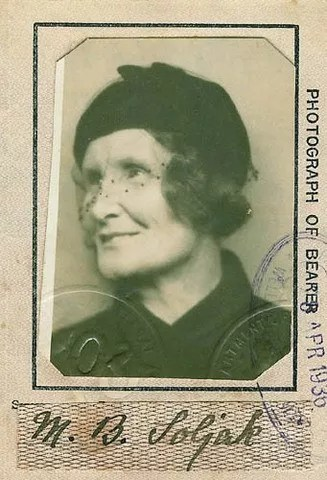 Picture of Sean's great-grandmother, Miriam Cummings Soljak
