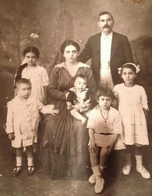 Savvas with his wife Rosa and their children