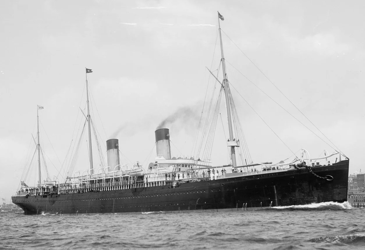 Teutonic of 1889, White Star Line, built to accommodate 1,490 passengers, public domain image
