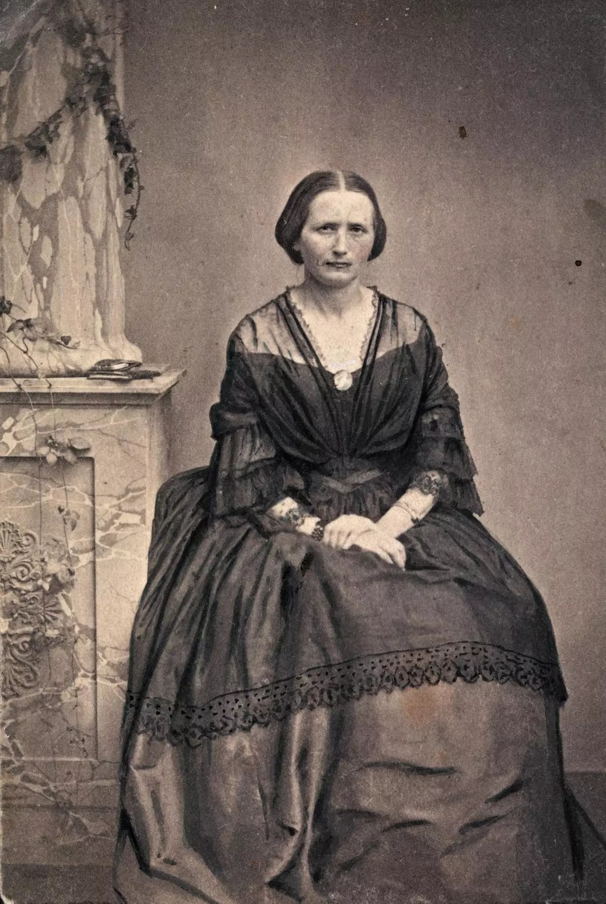 Portrait of Camilla Collett, 1860. [Credit: National Library of Norway]