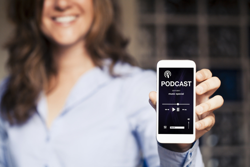 Podcast visibile on phone