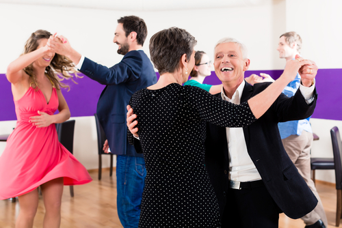 People attending a dance class