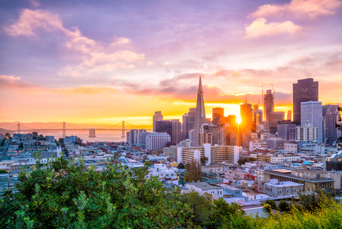 San Francisco city sunrise